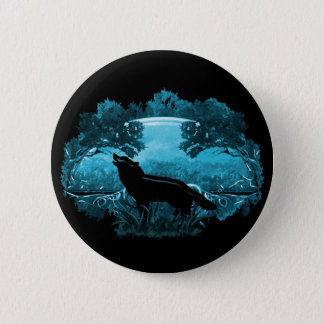 Wolf in Nature 6 Cm Round Badge
