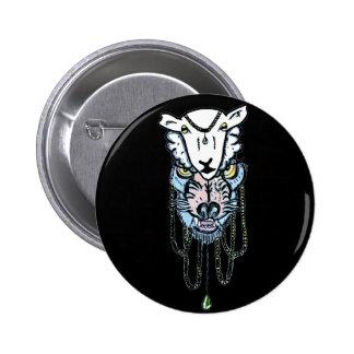wolf in sheep skin tattoo design 6 cm round badge