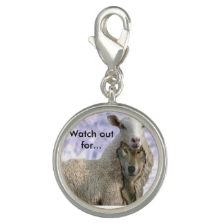 Wolf in Sheep's clothing bracelet Charm