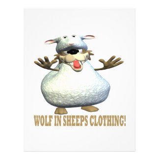 Wolf In Sheeps Clothing Personalized Flyer