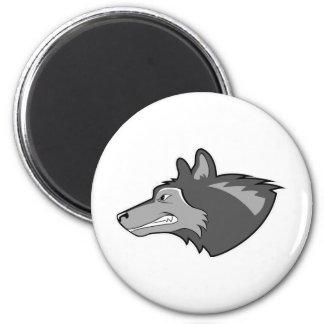 Wolf in Sleek Gray Fridge Magnet