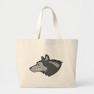 Wolf in Sleek Gray Tote Bag