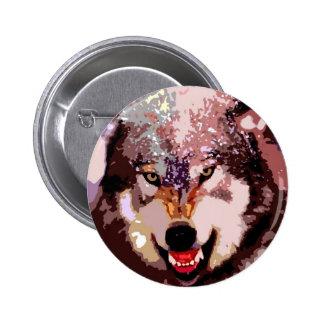 Wolf in Snow 6 Cm Round Badge