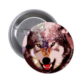 Wolf in Snow Pin