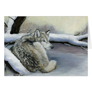 Wolf in the Snow Art Note card