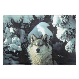 Wolf In The Snow Placemat