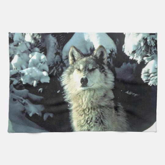Wolf In The Snow Tea Towel