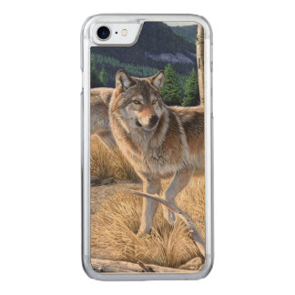 Wolf in winter forest carved iPhone 8/7 case