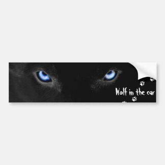 Wolf into the car bumper sticker