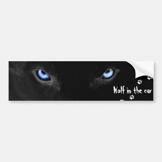 Wolf into the car bumper sticker