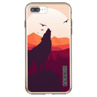 Wolf iPhone 7 Plus DualPro Shine, Gold Incipio DualPro Shine iPhone 8 Plus/7 Plus Case