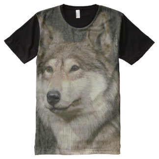 Wolf All-Over Print T-Shirt