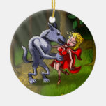Wolf Kissing Red Riding Hood Christmas Ornaments