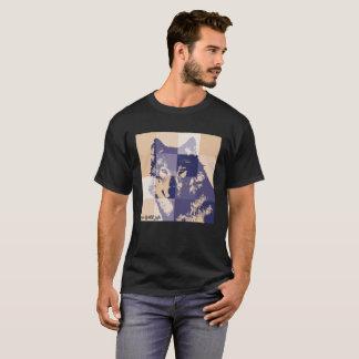 wolf knows wild life echo-social-messaje T-Shirt