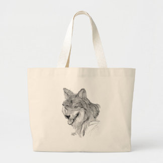 Wolf Large Tote Bag