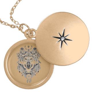 Wolf Locket Necklace
