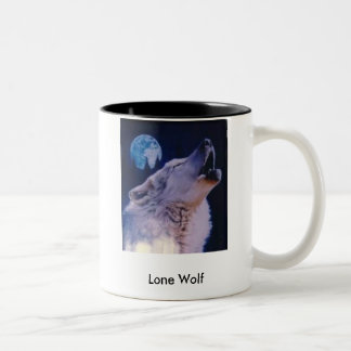 wolf, Lone Wolf Two-Tone Coffee Mug
