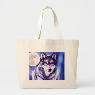 Wolf Look - Lonely Wolf Jumbo Tote Bag