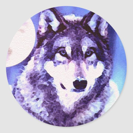 Wolf Look - Lonely Wolf Sticker