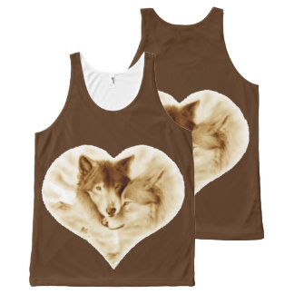 Wolf Love All-Over Print Tank Top