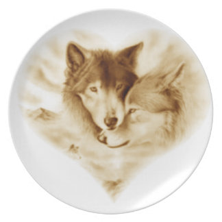 Wolf Love Plate