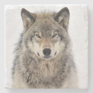 Wolf Love Stone Beverage Coaster