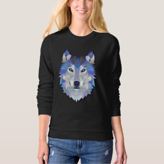 Wolf Mas, Abstract Head, Women's Raglan Sweatshirt