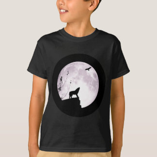 Wolf Moon and Eagle T-Shirt