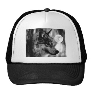 Wolf & Moon Trucker Hats