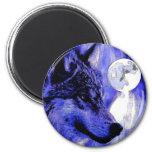 Wolf & Moon Fridge Magnets