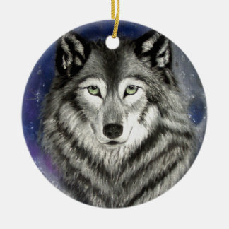 Wolf Moon Ornament