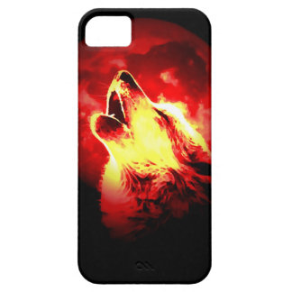 Wolf, Moon & Red Sky Barely There iPhone 5 Case