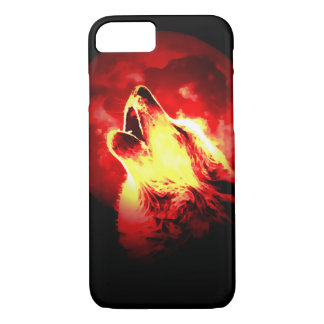 Wolf, Moon & Red Sky iPhone 7 Case