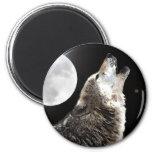Wolf & Moon Refrigerator Magnets
