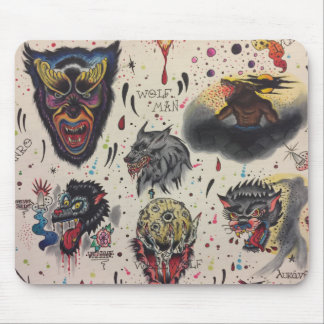 wolf  morning mouse pad