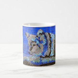 "Wolf Mosaic ""Mugs for Charity"" Basic White Mug"