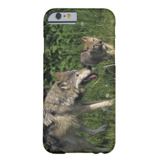 Wolf mother with young pup barely there iPhone 6 case