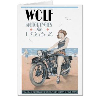 Wolf Motorcycles Card