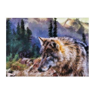 Wolf Mountain Acrylic Panel Wall Art