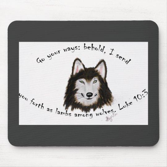 Wolf Mousepad religious