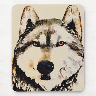 Wolf Nature Mouse Mat