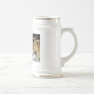 Wolf pack beer stien coffee mugs