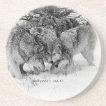 Wolf Pack Beverage Coaster