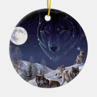 Wolf Pack Christmas Ornament