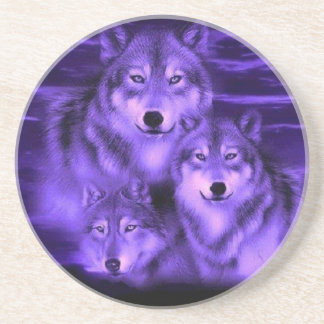 Wolf Pack Drink Coaster
