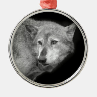 Wolf Pack Leader copy.jpg Silver-Colored Round Decoration