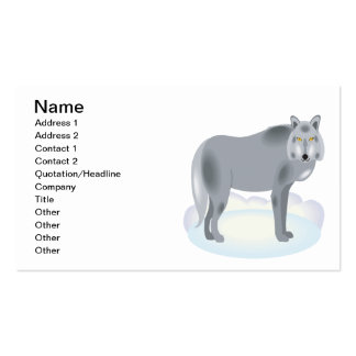 Wolf Pack Of Standard Business Cards