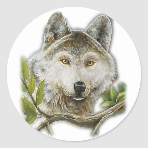 Wolf Painting with just face Sticker
