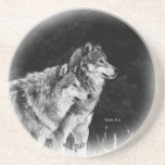 Wolf Pair Coasters