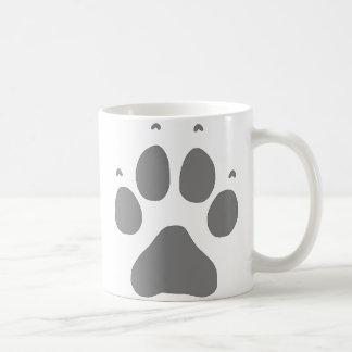 Wolf Paw Basic White Mug